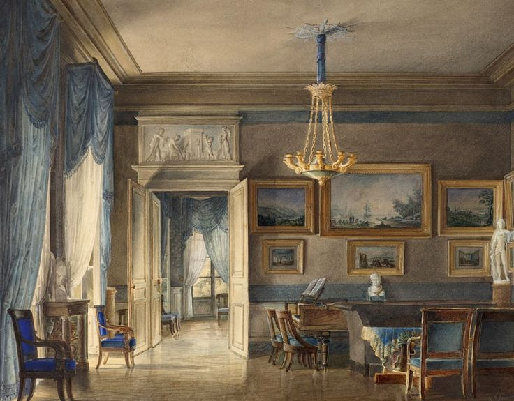 Regency Interior Design Painting Entrancing 149 Best Empire Style Interior Images On Pinterest  Empire Style . Design Ideas