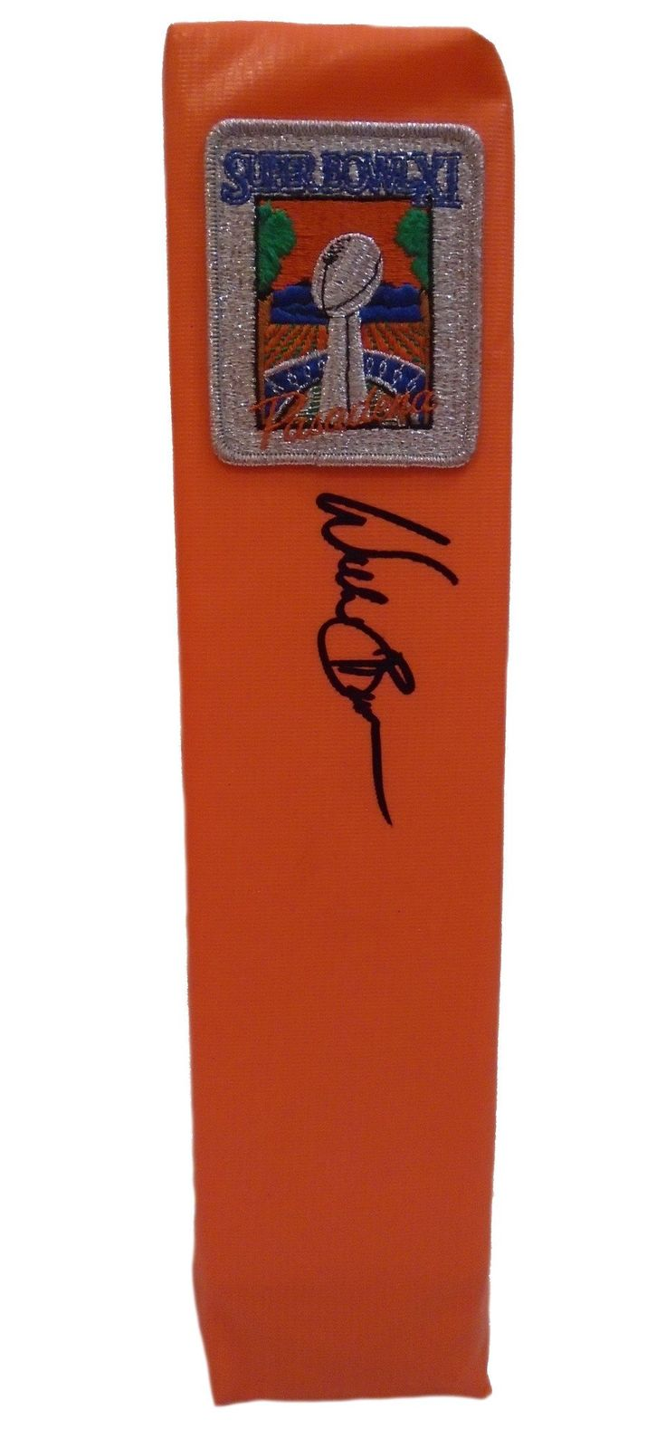 Willie Brown Autographed SB XI Full Size Football End Zone Touchdown Pylon, Proof Photo. This is a brand-new custom Willie Brown signed Oakland Raiders Super Bowl XI full size football end zone pylon.  This pylon measures 4 inches (Width)  X 4 inches (Length) X 18 inches (Height).  Willie signed the pylon in black sharpie. Check out the photo of Willie signing for us. ** Proof photo is included for free with purchase. Please click on images to enlarge. Please browse our website for…