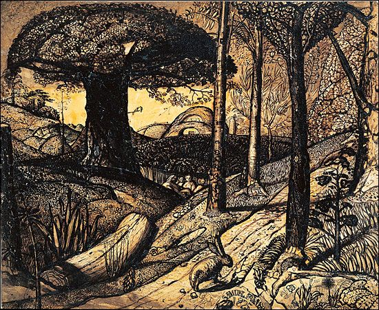 Early Morning. 1825 Samual Palmer printArtists, Ears Mornings, Early Mornings, Illustration, 1825, Samuel Palmer, Painting, Pens And Ink, Drawing