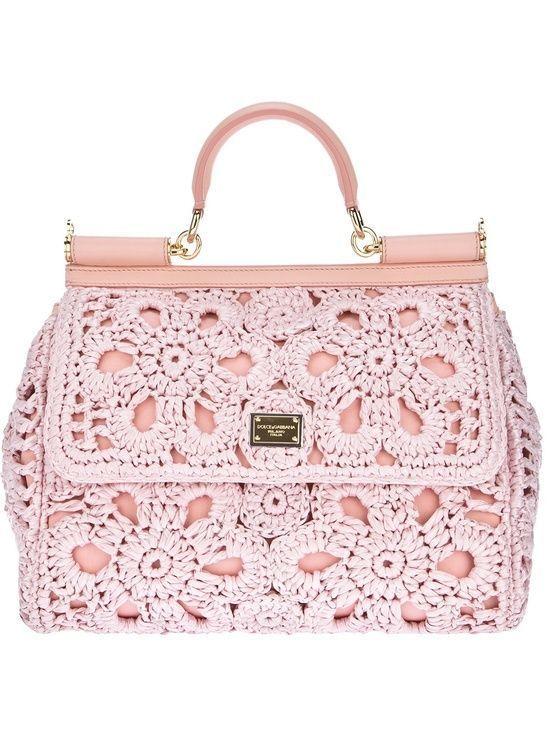PINK ADDICTION — Dolce & Gabbana crocheted handbag