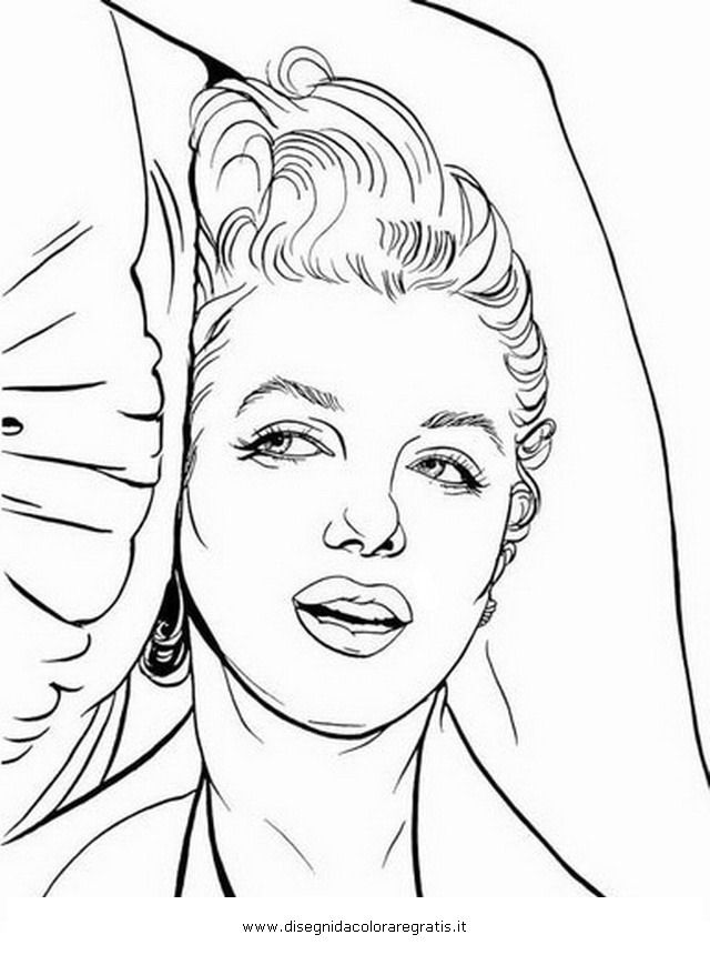 coloring pages marilyn monroe - photo#18