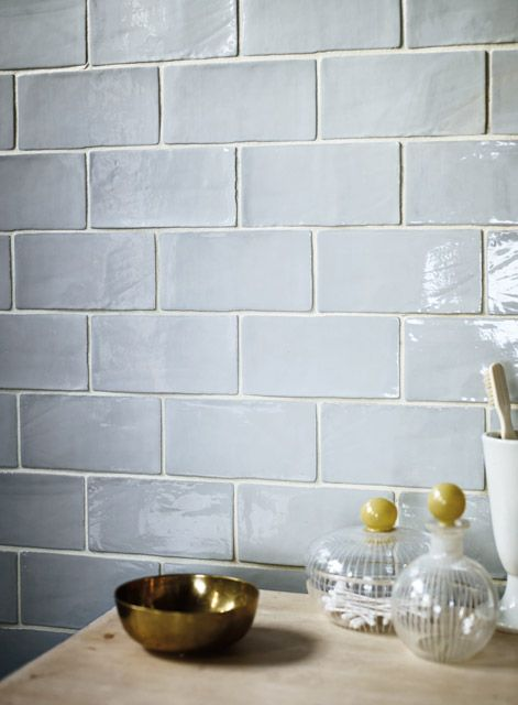 Forecast Cromarty wall tiles www.firedearth.com | the handmade tile edge is perfection