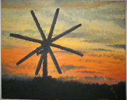 #cloud #clouds #forest #landscape #sunset #windmill Contact: RomCGallery@gmail.com