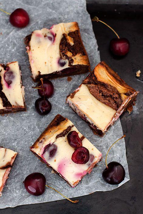Cherry cheesecake brownie from Makeaa blog / Kirsikkajuustokakku-browniet