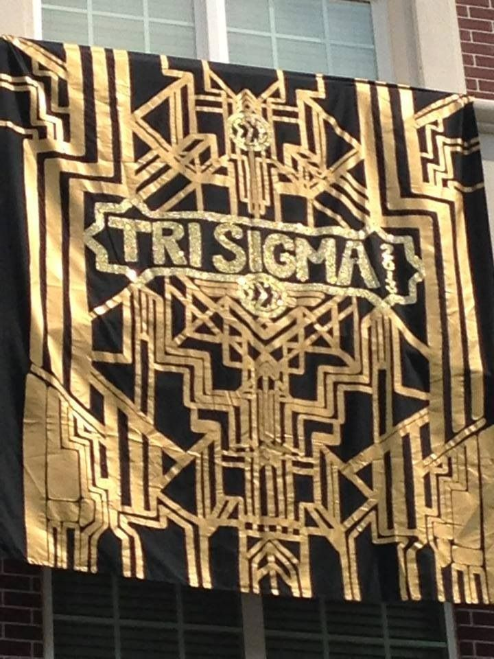 The great gatsby bid day theme from tri sigma-eta chi 2013! I loved the theme and it was an AMAZING day!!! #gatsby #trisigma #awesome