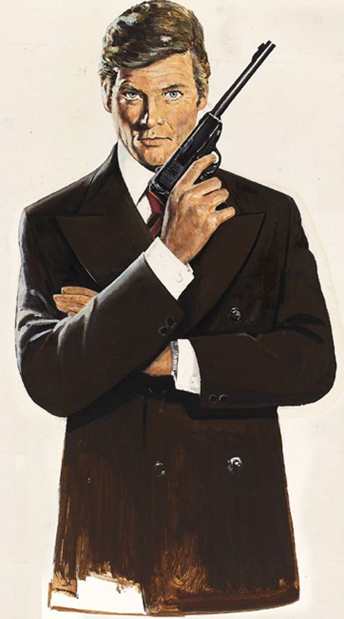 Robert McGinnis - Roger Moore 007 - Diamond Dust Print