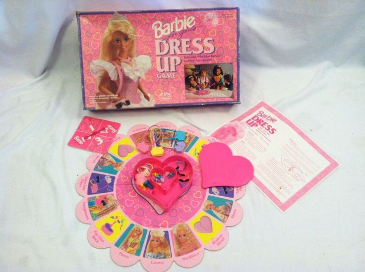 1993 GOLDEN BARBIE FOR GIRLS DRESS UP GAME  COMPLETE FAMILY FUN GAME #Game