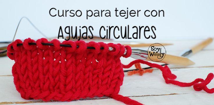 Curso para tejer con agujas circulares: calcetines, guantes, jerseys, cuellos sin costuras en dos agujas-Clase 1: montar los puntos y tejer el punto liso/jersey