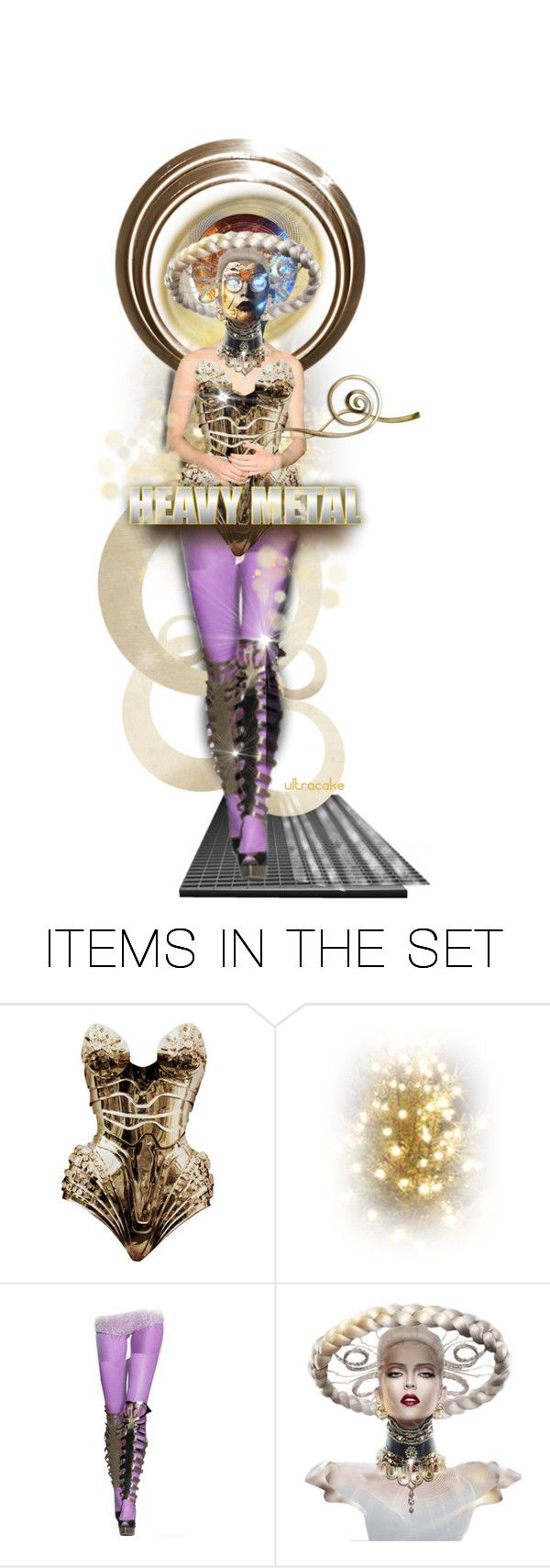 """""""Heavy Metal Android"""" by ultracake ❤ liked on Polyvore featuring art, galaxy, dolls, futuristic, space and ultracake"""