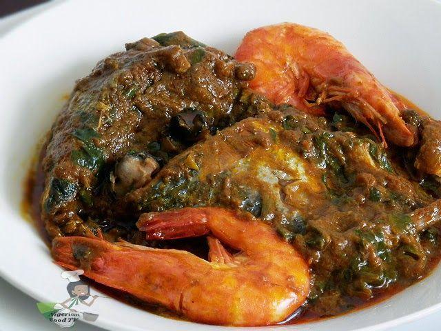 Abak Mbakara (seafood palmnut soup) by Nigerian Food TV