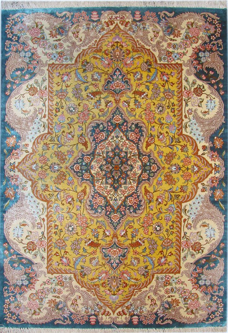 Qum Silk Persian Rug | Exclusive Collection Of Rugs And Tableau Rugs    Treasure Gallery Qum