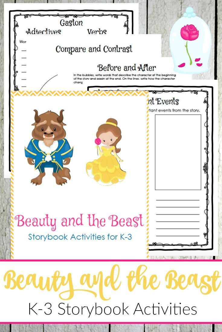 Unit study colors preschool - Beauty And The Beast Storybook Activities