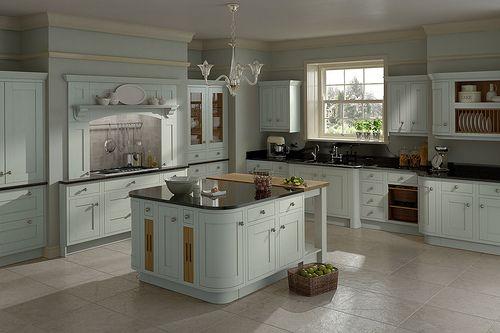 A Harewood painted inframe kitchen design idea. - https://www.diy-kitchens.com/kitchens/harewood-mussel/details/