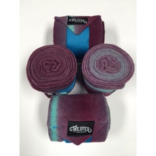 Bandages polo Weaver Ombrés Turquoise-Framboise