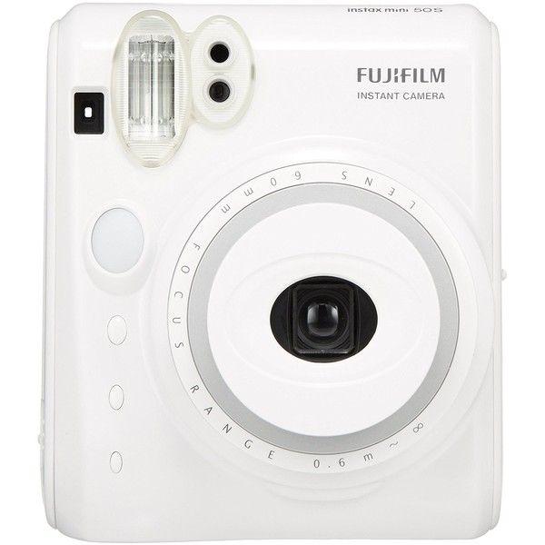 New Model Fuji Instax Mini 50s Piano White Fujifilm Instant Camera ($69) ❤ liked on Polyvore featuring filler