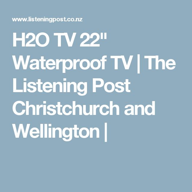 """H2O TV 22"""" Waterproof TV 