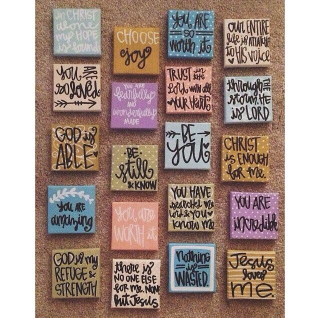 ONE mini canvas // choose any. by gloriouslyruined on Etsy