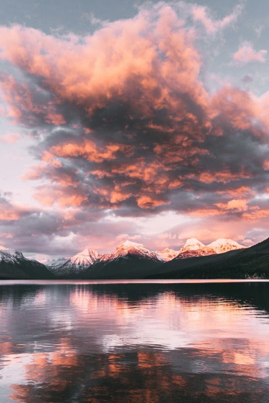 Sunset over Lake McDonald, Montana
