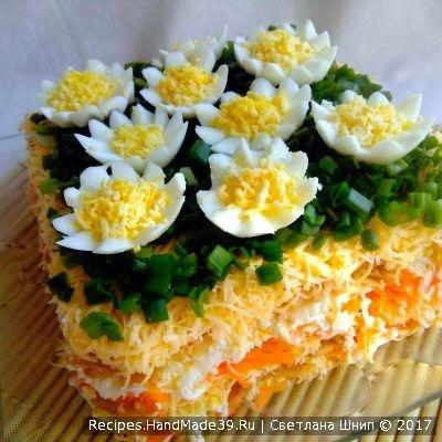 """Многослойный салат """"Оранж"""" - пошаговый рецепт с фото."""