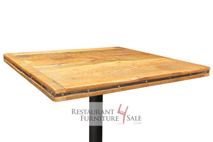 "24"" Square, Hand-Sanded Reclaimed Wood Restaurant Table Top"