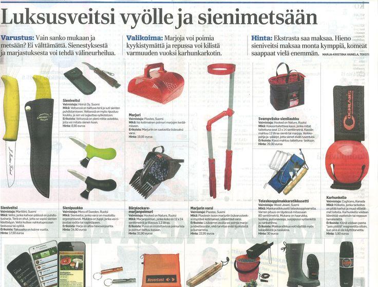 Sienet odottavat poimijaa - sieniveitsi vyölle ja metsään!  www.heirol.fi Aamulehti 26.7.2013