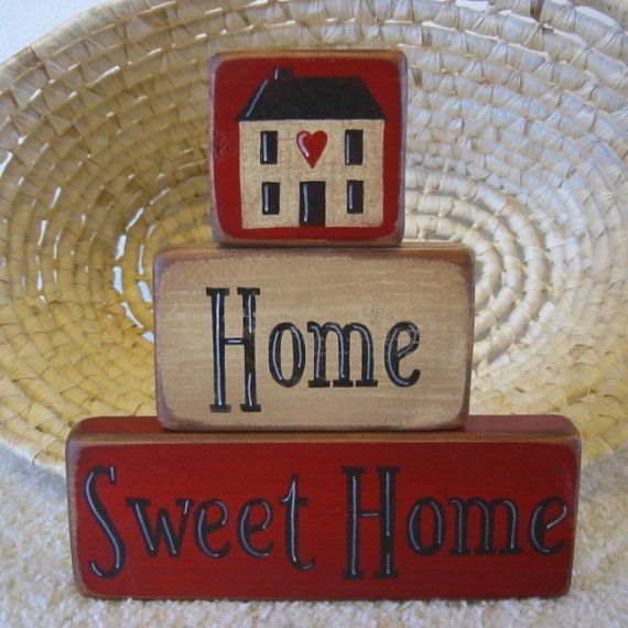 primitive home decor   Primitive Home Decor Home Sweet Home by ...   Let's Celebrate - New…