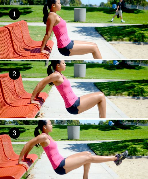 park bench strength training moves