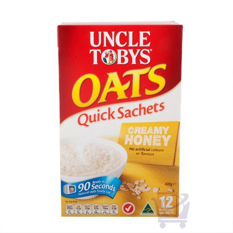 Uncle Tobys Quick Oats Creamy Honey – Uncle Tobys, 420g | Shop Australia