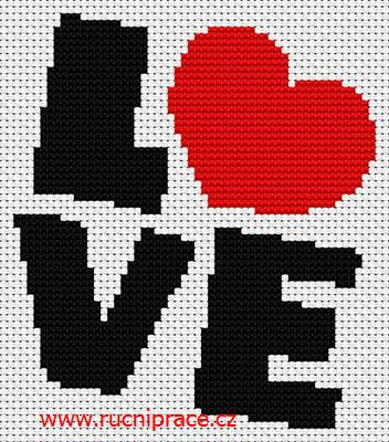 Love, free cross stitch patterns and charts - www.free-cross-stitch.rucniprace.cz