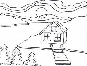 Art activity for young students: Colour like Ted Harrison, famous painter of the Yukon