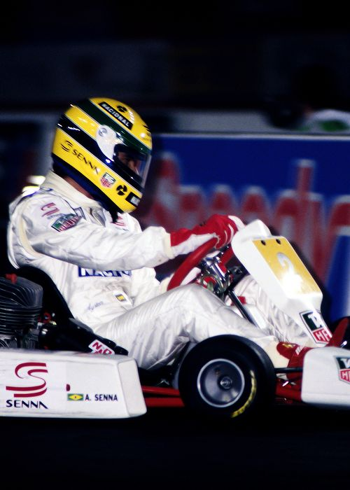 Ayrton Senna-kart - I've been to the indoor track where this was taken
