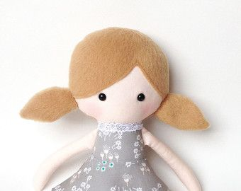 ★ This lovely cute doll is handmade and designed by me. Shes made of very soft minky fabric, cotton and tulle and stuffed with an anti allergenic stuffing. Her tutu skirt is detachable She measures approximately 36cm (14 inch)  ★ She loves to be played with but will also make a very nice display item.. ★ She prefers to be spot cleaned but when necessary she can be hand washed with cold water and a mild detergent. Air dry only.  ★ Please note this item is made to order and will be ready to…