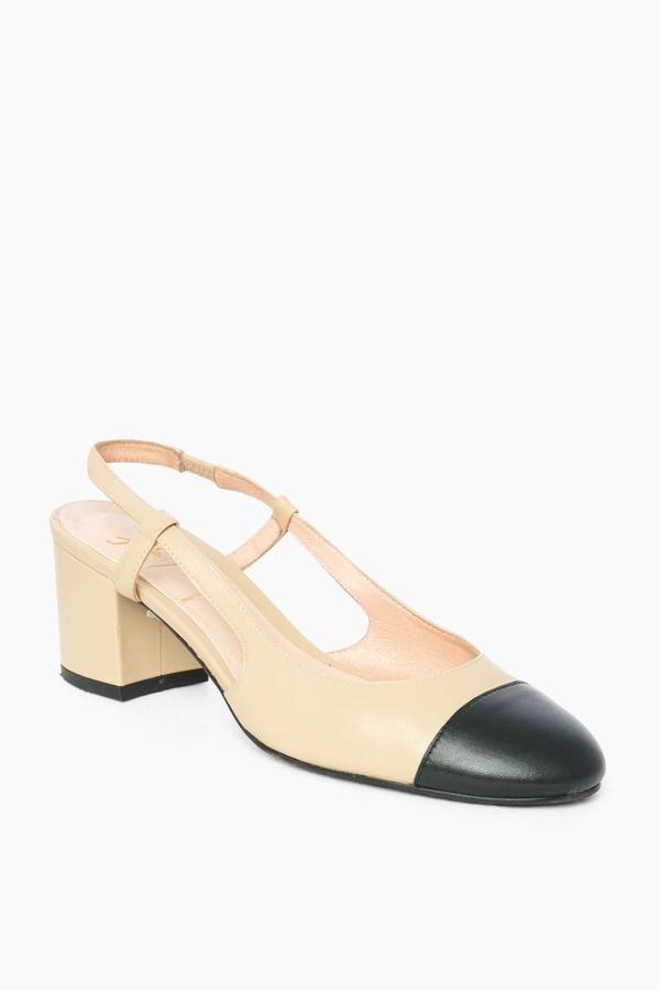 16a161ea7c0 Baton Heels in Beige by French Sole - Tnuck