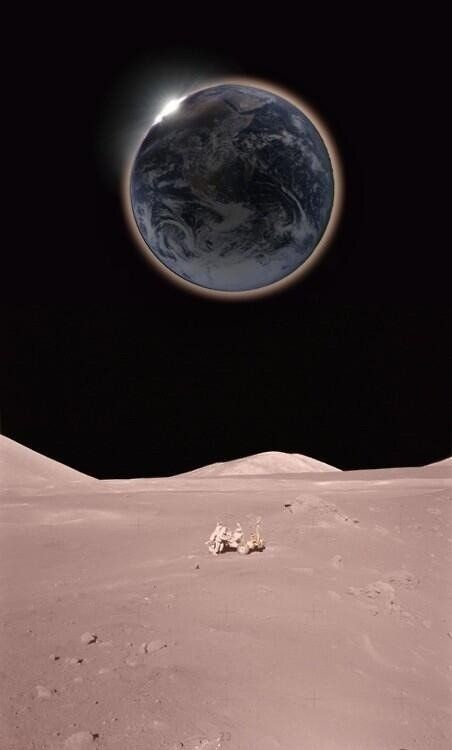 A view of Earth from The Moon taken by NASA.