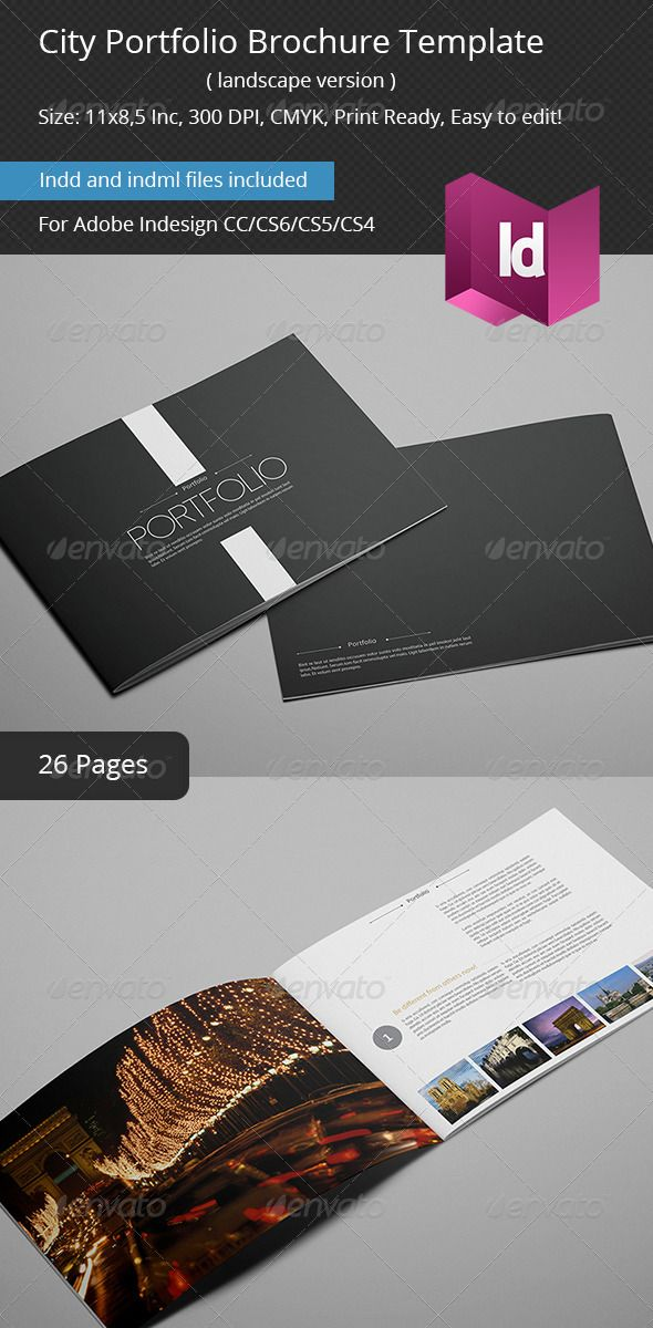 city portfolio brochure template my graphic works pinterest