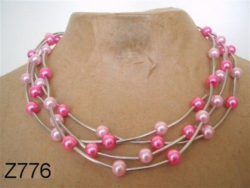 Geregen ketting met buisjes. ----- necklace - DIY - glasspearls -----