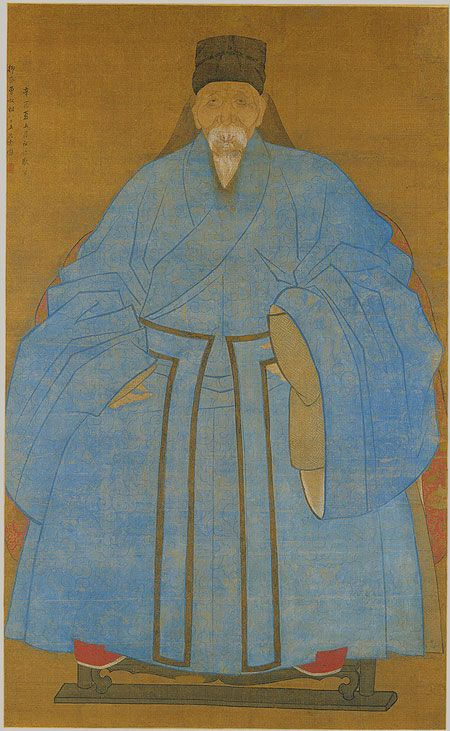 Portrait of the Artist's Great Grand Uncle Yizhai at the Age of Eighty–Five, Ming dynasty, dated xiyou year (1561 or 1621)