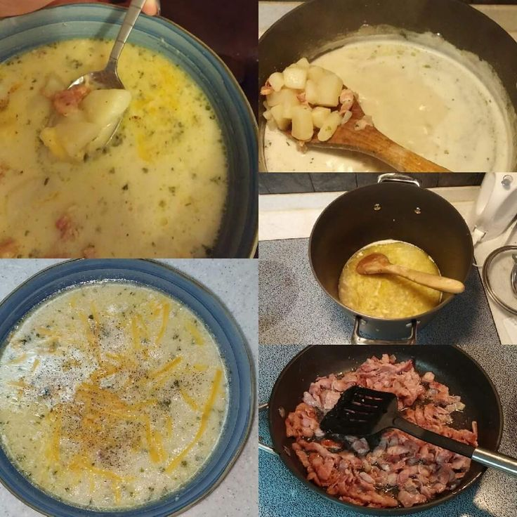 Potato and Bacon Soup (with cheddar cheese) A wee bit about this recipe- I have been craving soup lately like NO ONE'S business. With the cooler weather finally here (thank god, I'm sic…
