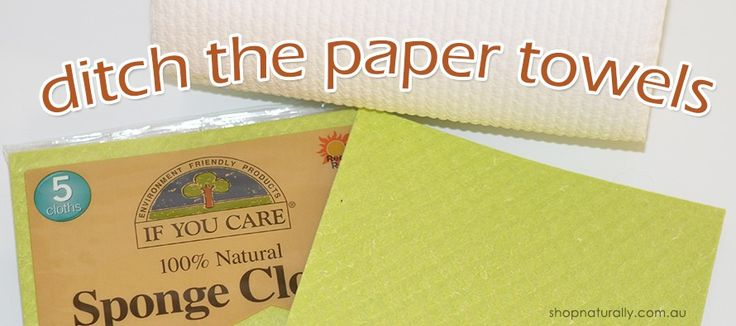 Paper towel alternative in an eco-friendly kitchen