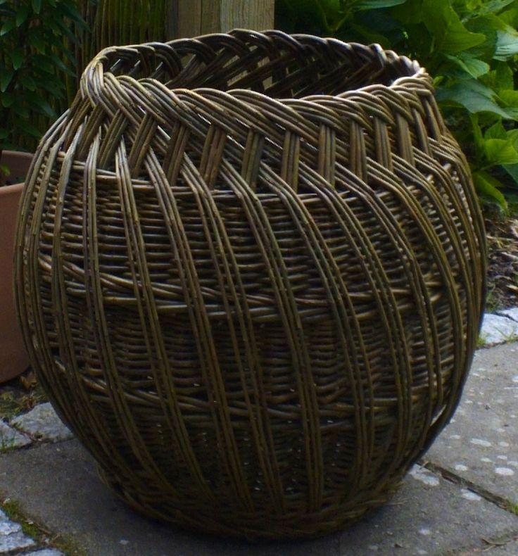 Basket Weaving Fiber : Udvendig afslutning eddies kurve willow