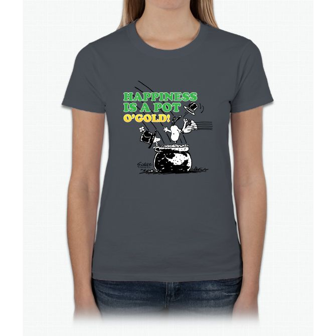 Happiness Is A Pot O' Gold Womens T-Shirt