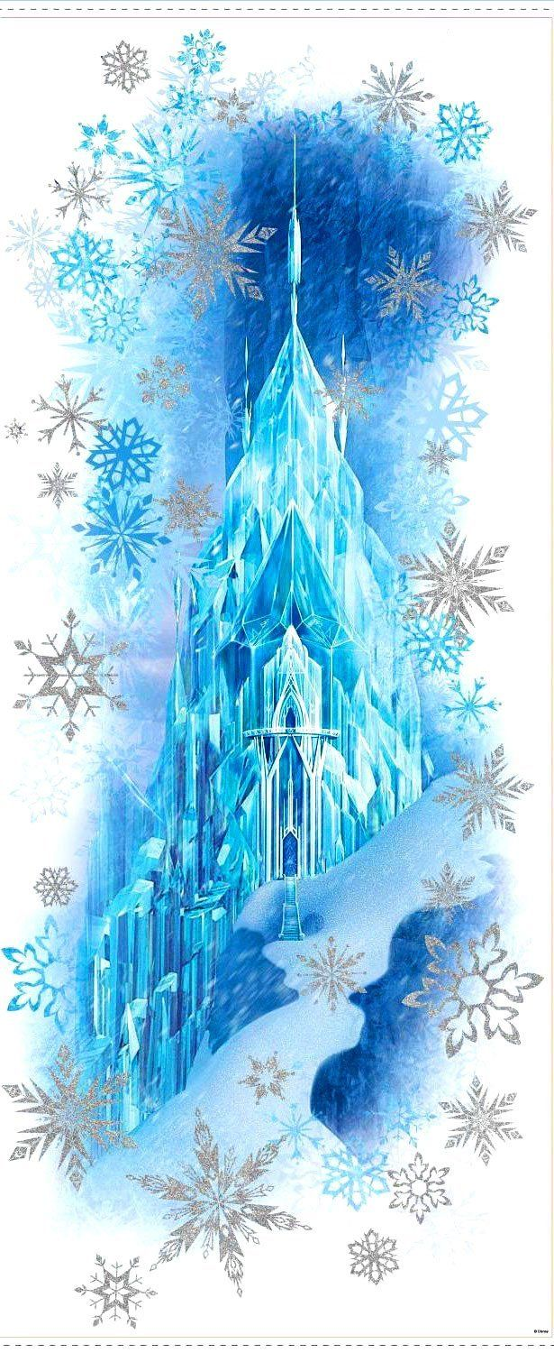 Amazon.com - Roommates Rmk2361scs Frozen Peel and Stick Wall Decals Stickers Combo, Large Castle Ice Palace Mural (40 X 17) + Set of 36 Glitter Wall Decals with Else and Anna -