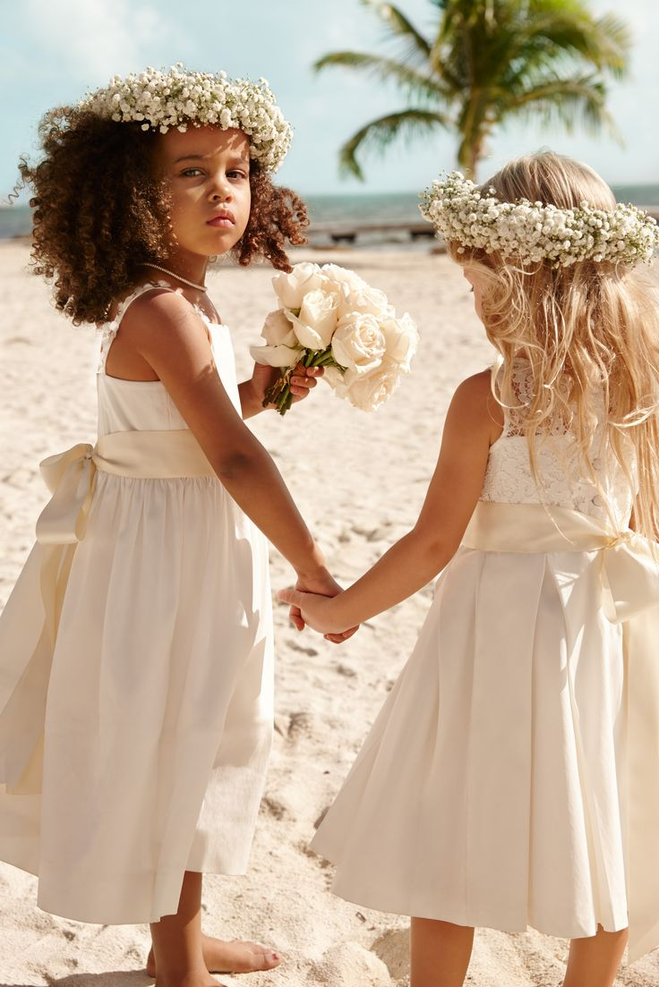 742 best wedding hair styles images on pinterest natural for Flower girl dress for beach wedding