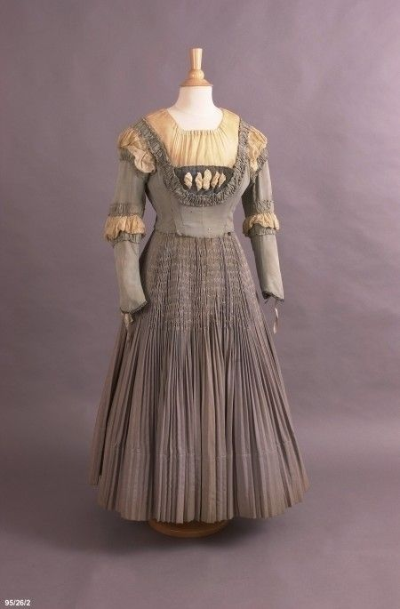 Costume, opera, dress, worn by Dame Nellie Melba, c.1910. Born Helen Mitchell in Melbourne, Australia (she took her stage name from the city), she rose to become a fixture at London's Covent Garden and other great international houses for three-plus decades until her retirement in 1926