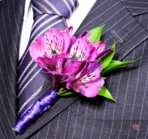 Purple Peruvian Lilies Wedding Centerpieces, Bridesmaid Bouquets, Boutonnieres and Corsages