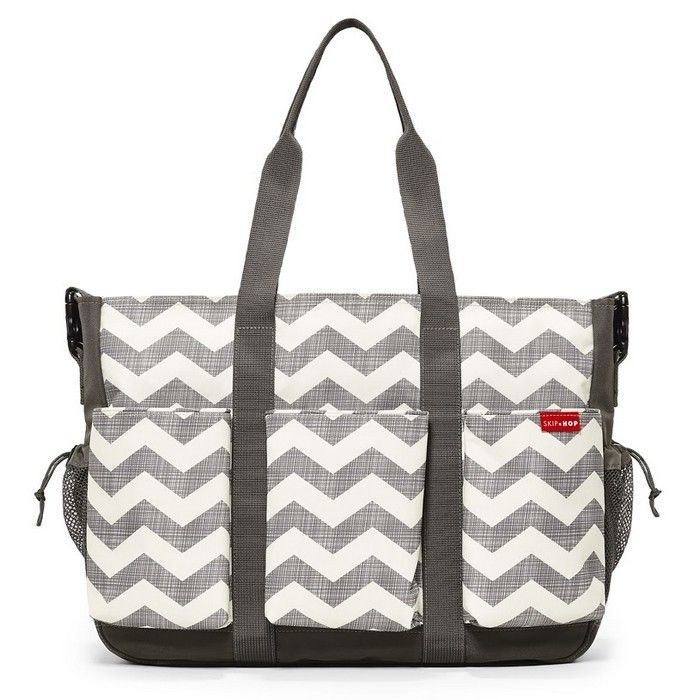 SKIPHOP DUO DOUBLE HOLD IT ALL  NAPPY DIAPER BABY SKIP HOP BAG - CHEVRON SAVE !