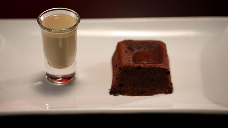Chocolate Fondants with Coffee Crème Anglaise