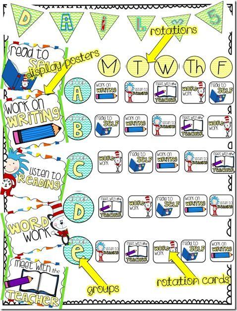 Amazing FREE Daily 5 Rotation board!