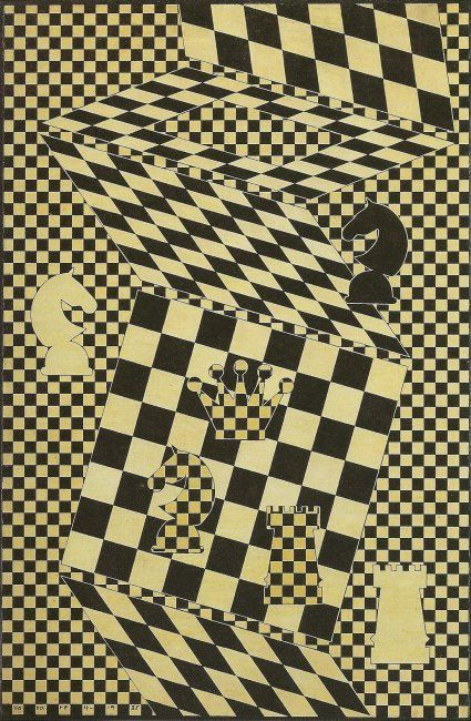 Victor Vasarely.  The Chess Board, 1935