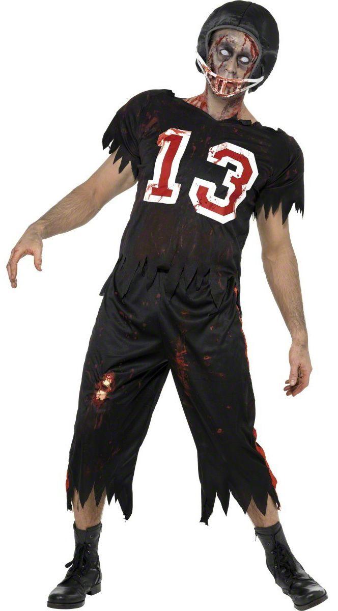 Zombie-Kostüm Americain Football für Erwachsene: Dieses Zombie-Kostüm Americain Football für Erwachsene besteht aus einem Tshirt, einer knielangen Short und einem Helm (Schminke, Linsen und Schuhe nicht inbegriffen). Mit diesem...